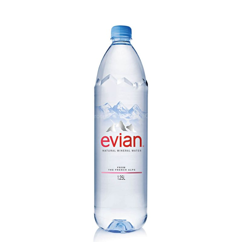 Evian Natural Mineral Water 1.25L