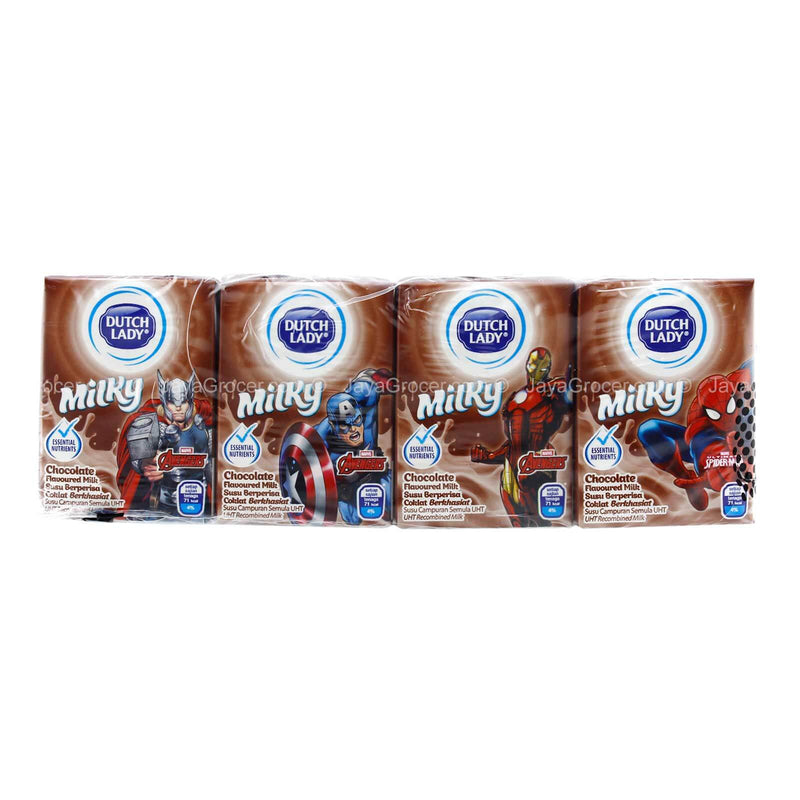 Dutch Lady Milky Marvel Chocolate Flavoured Milk 125ml x 4