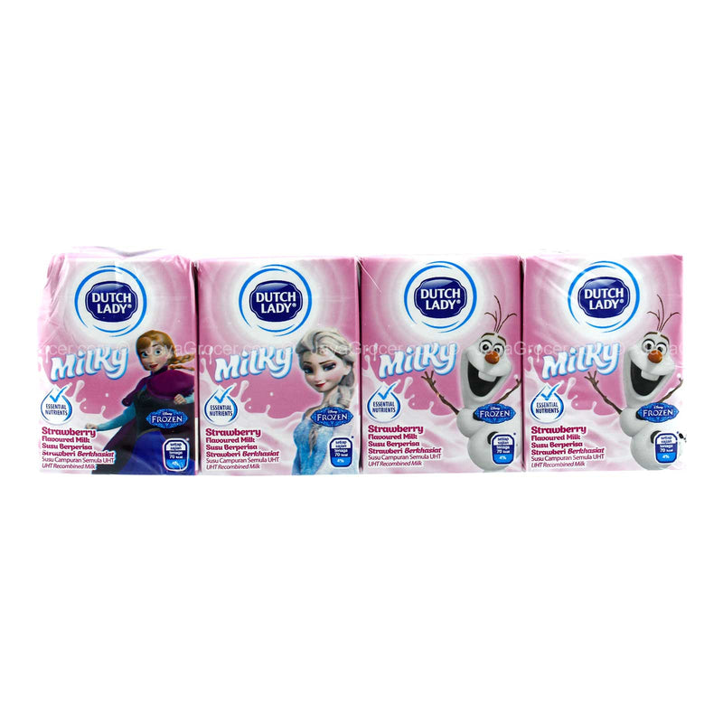 Dutch Lady Milky Frozen Strawberry Flavoured Milk 125ml x 4
