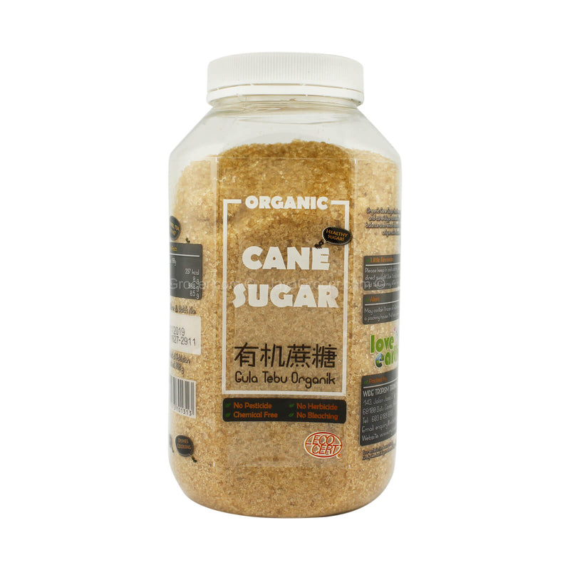 Love Earth Organic Cane Sugar 800g