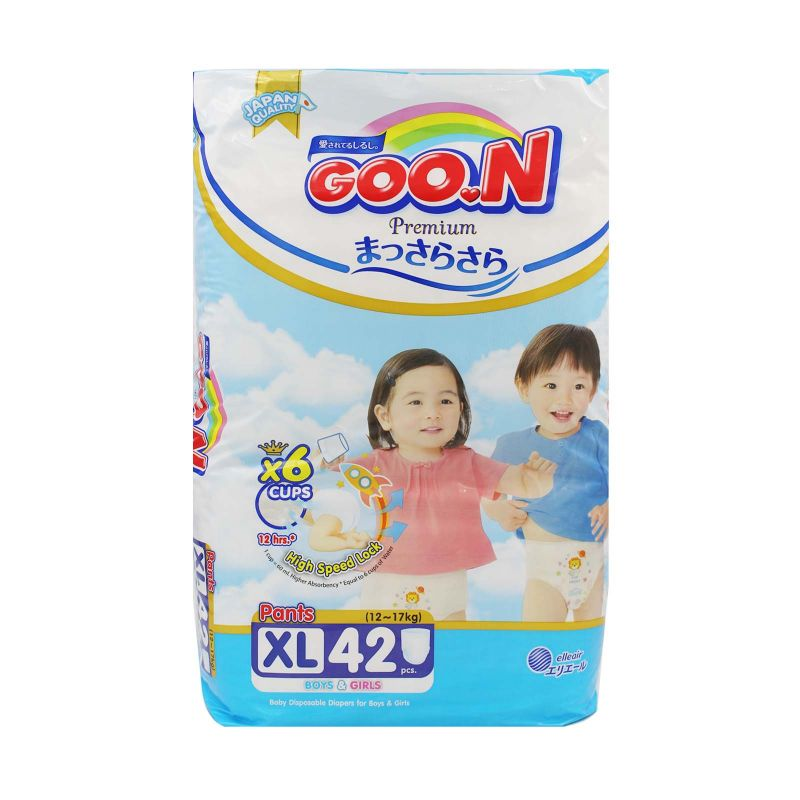 Goo.N Premium Baby Diapers XL (12-17kg) 42pcs