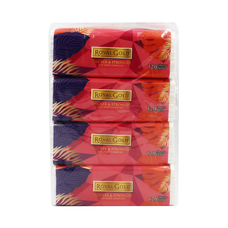 Royal Gold Tissue 120sheets x 4packs