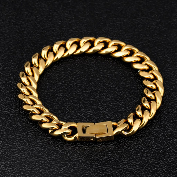 10mm Miami Cuban Stainless Steel Cuban Link Bracelet