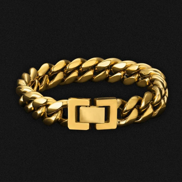 12mm Miami Cuban Stainless Steel Cuban Link Bracelet