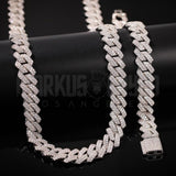 13mm New Lock Prong Cuban Bundle Chain&Bracelet