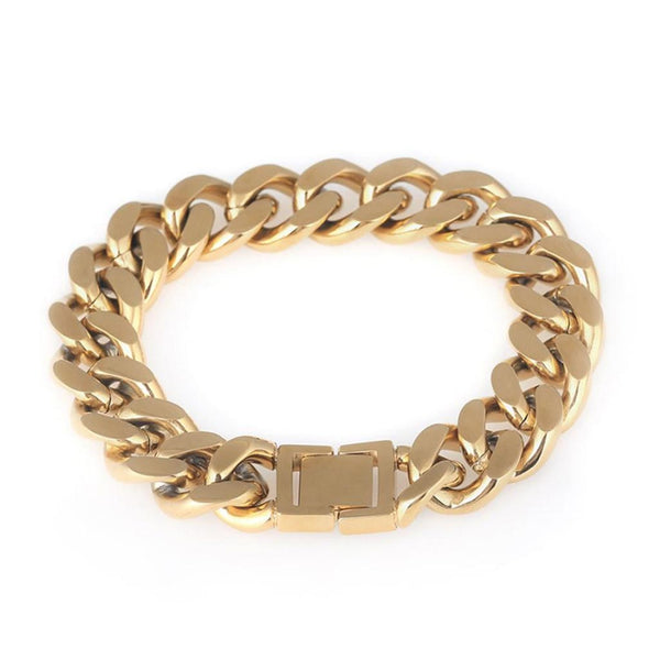 14mm Miami Cuban Stainless Steel Cuban Link Bracelet