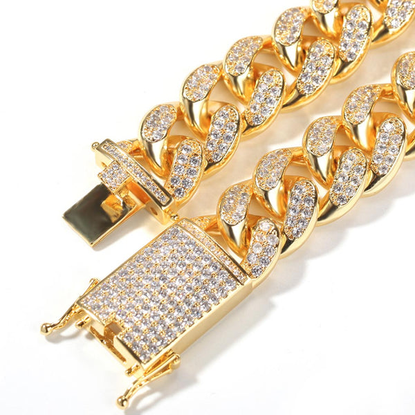 20mm Iced Cuban Premium Chain 14K Gold
