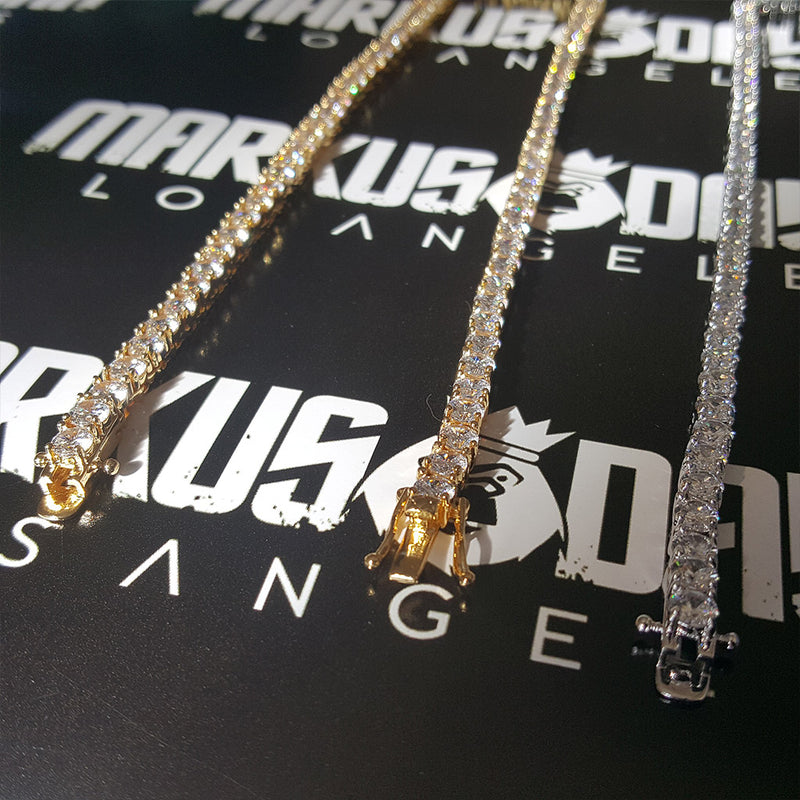 Diamond Tennis Chain Gold/White Gold