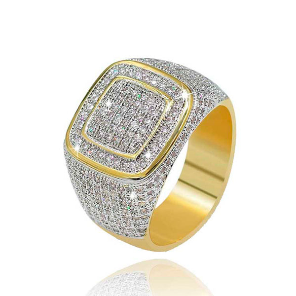 Iced Hip-Hop CZ Ring