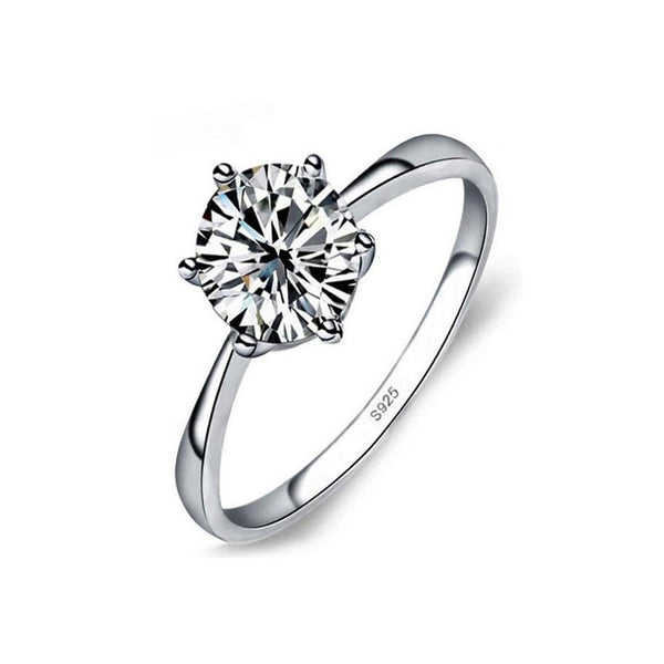 S925 Sterling Silver Diamond CZ Ring