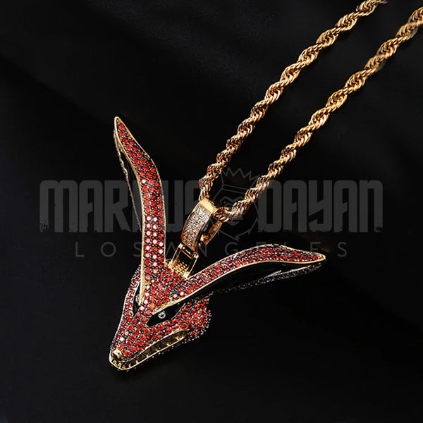 Iced Kurama Fox Pendant 18K Gold Plated