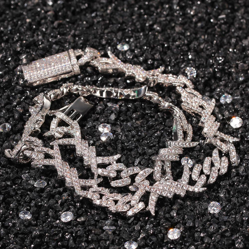 10mm Iced Thorn Iced Cuban Diamond Chain