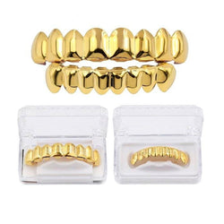 New Arrival Gold/Silver Teeth Grillz Set