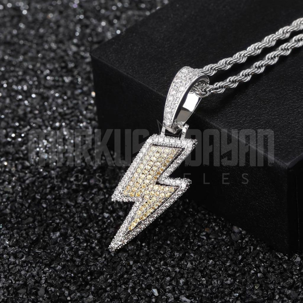Iced Out The Lightning Pendant