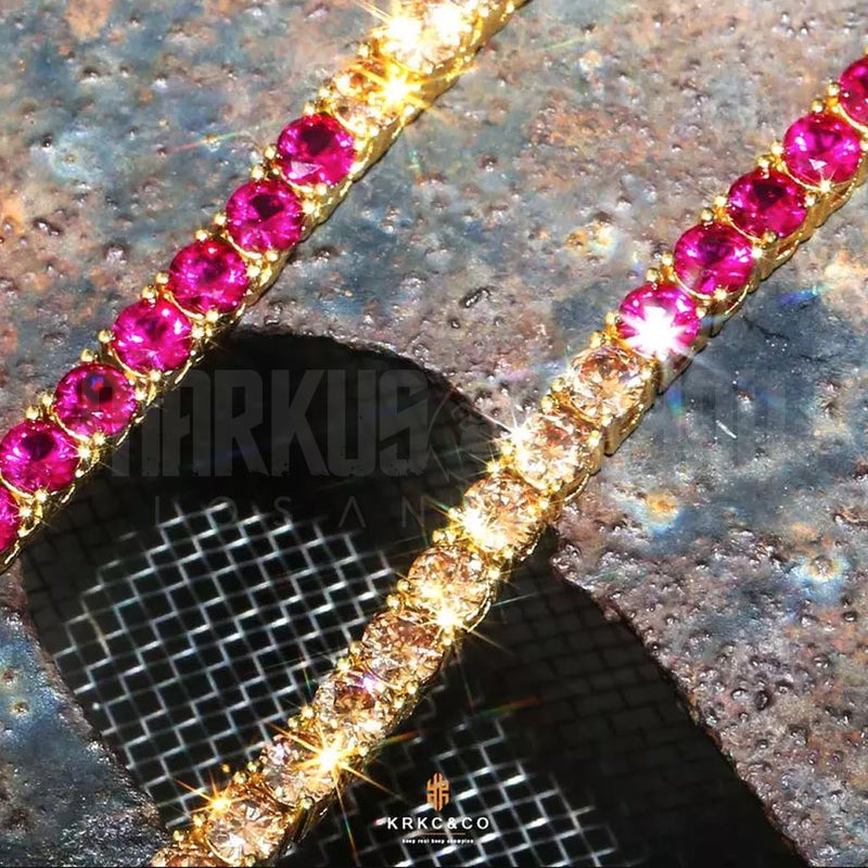 4mm Rainbow Tennis Spectrum Chain