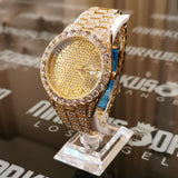 18K Gold Finish Diamond Watch Big Ferrari