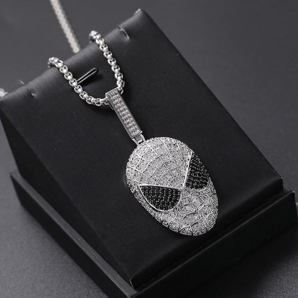 White Gold Plated Iced Out Spider-Man Movie