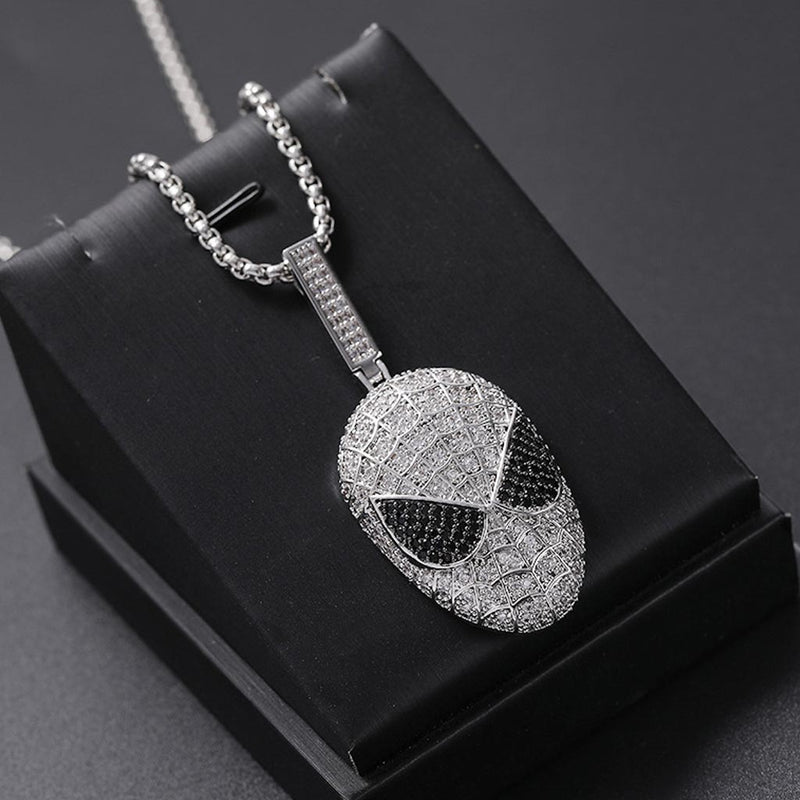 White Gold Plated Iced Out Spider-Man Marvel Movie