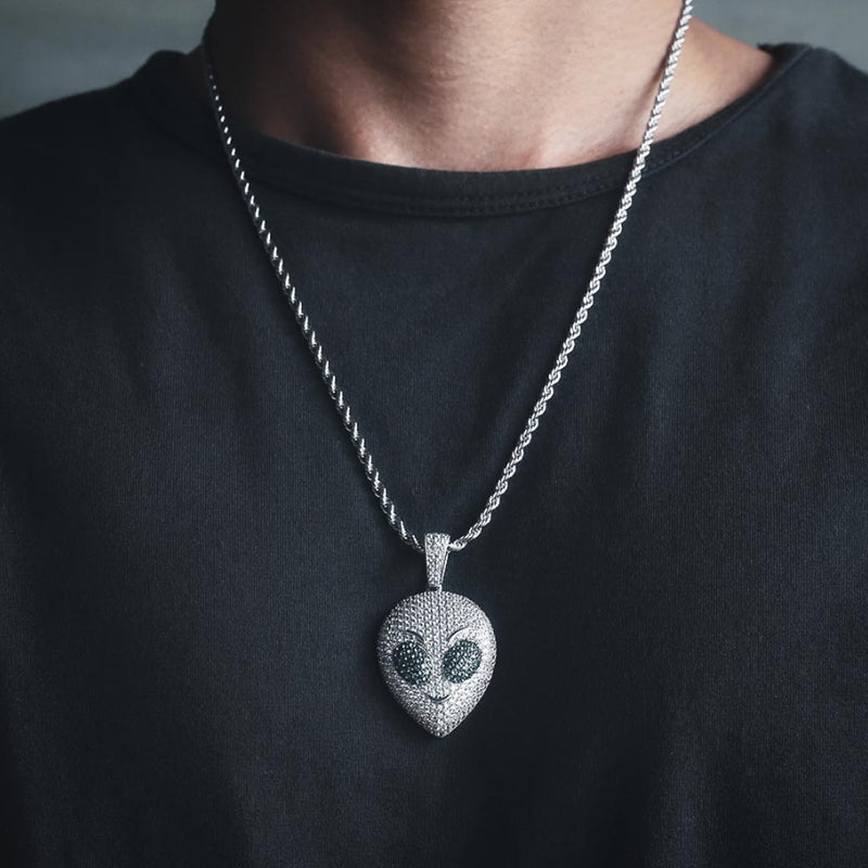 Iced Alien Head Custom 14K Gold Plated