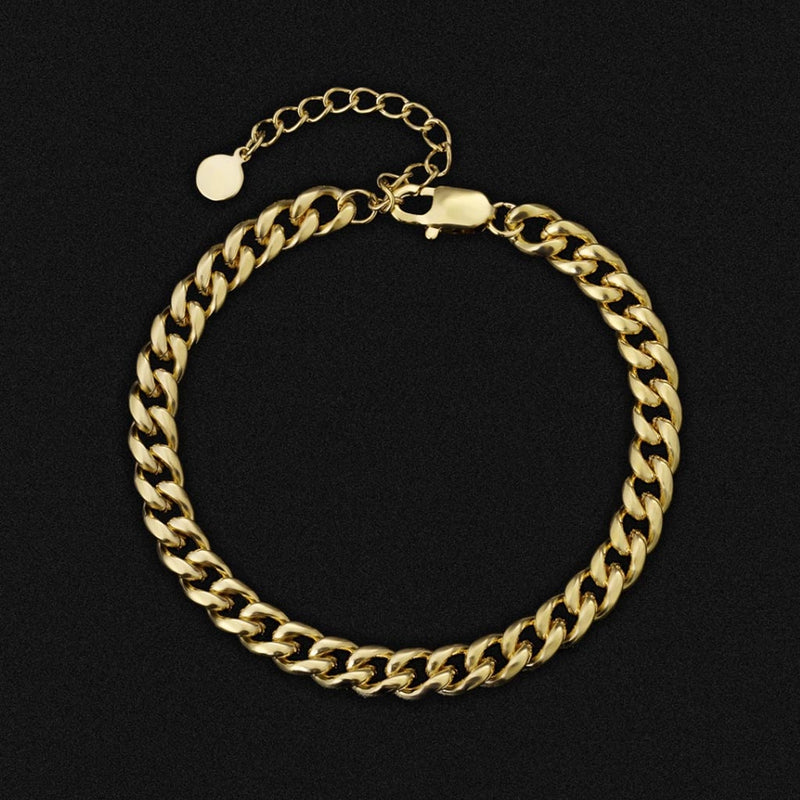 Anklet 8mm Miami Cuban Link Curb