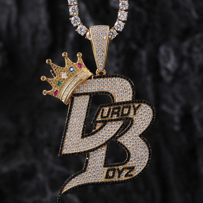 Iced Durdy Boyz Pendant Colorful 14K Gold Plated