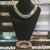 LIMITED STOCK! 20mm Iced Cuban Bundle Chain&Bracelet