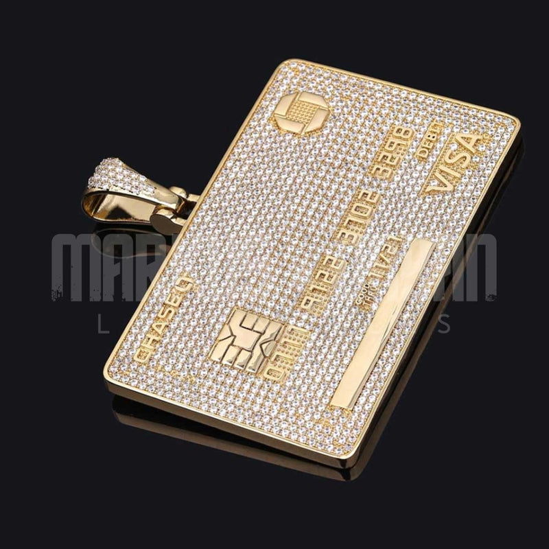 Iced Custom Name Card 14k Gold Plated
