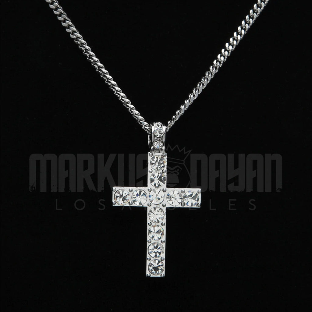 Pre-made Set 13mm Diamond Cuban Choker + Tennis Bundle (Free Cross)