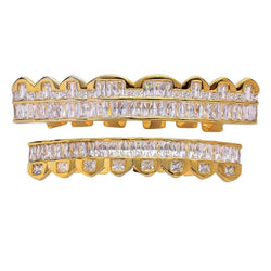 Iced Baguette Gold Teeth Grillz