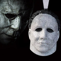 Iced Michael Myers Custom Halloween Mask Pendant