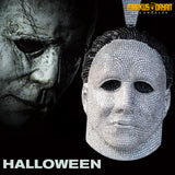 White Gold Iced Custom Michael Myers Mask Pendant