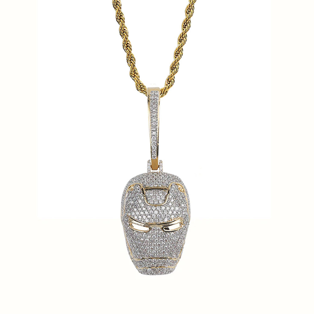 New Iced Out Big The Avengers Ironman Pendant
