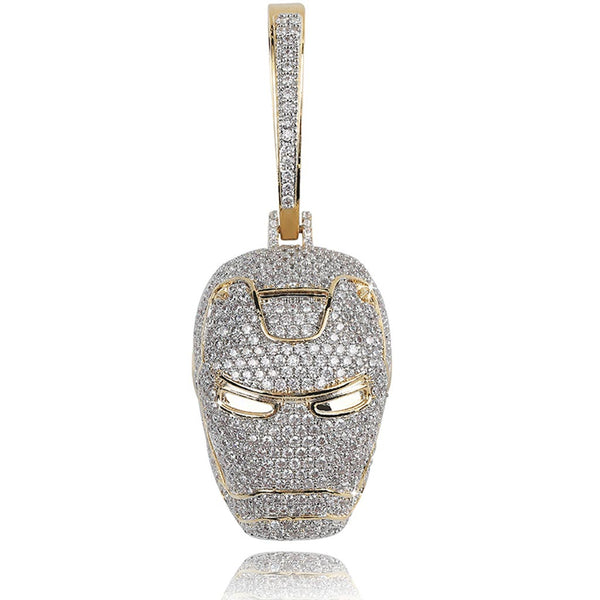 Iced The Avengers Ironman Pendant White Gold