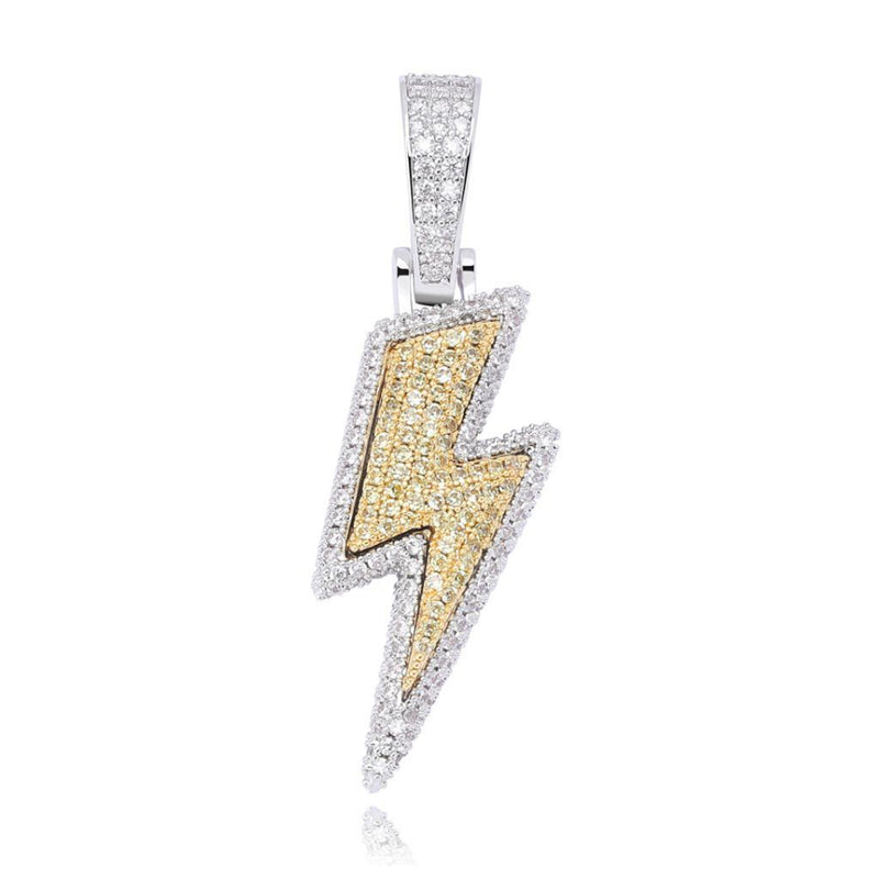 Iced The Lightning 14K Gold Pendant