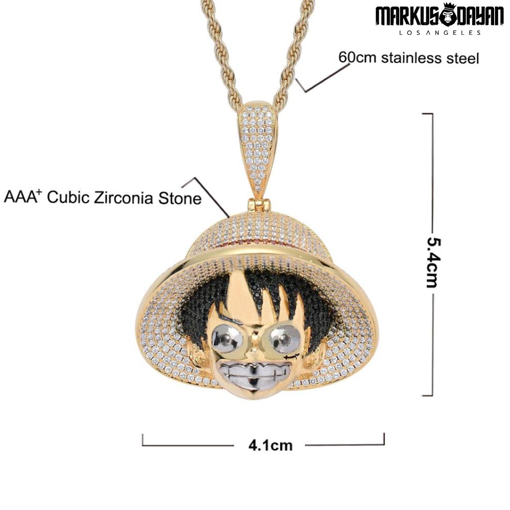 Markus Dayan Exclusive Iced Out D. Luffy Pendant