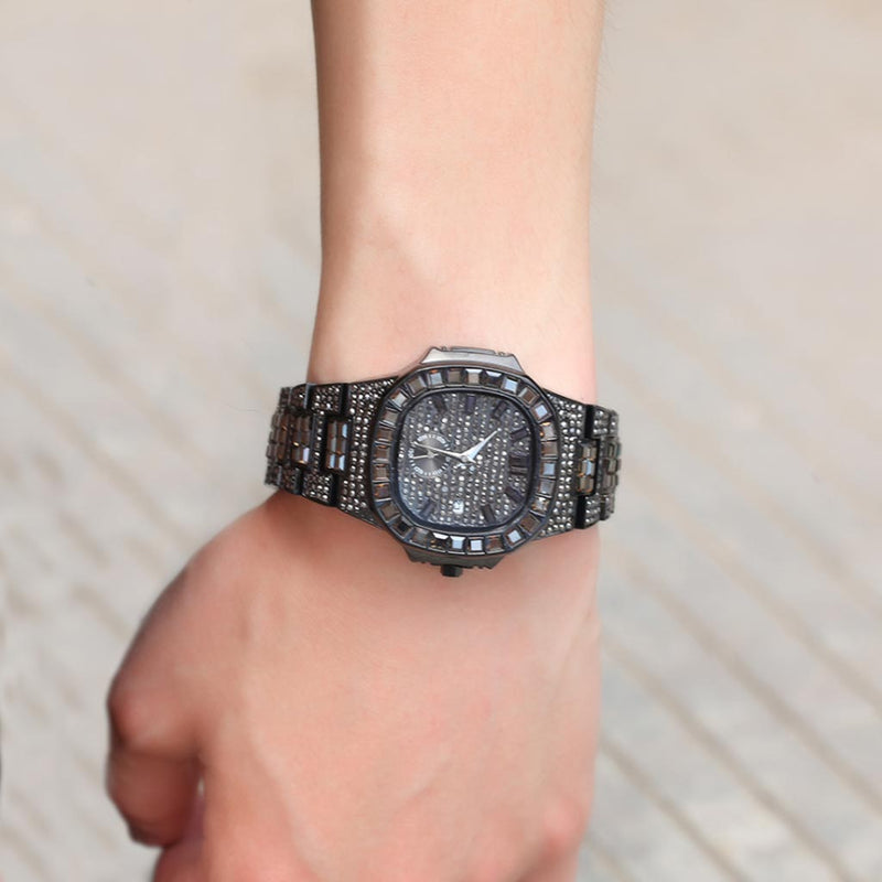 Iced Diamond Watch Cuban Quartz