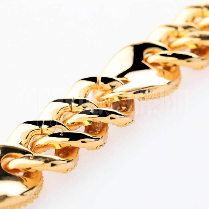 20mm New Clasp Iced Gold Cuban Bundle