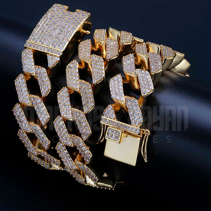 20mm Diamond Premium Prong Cuban Bundle