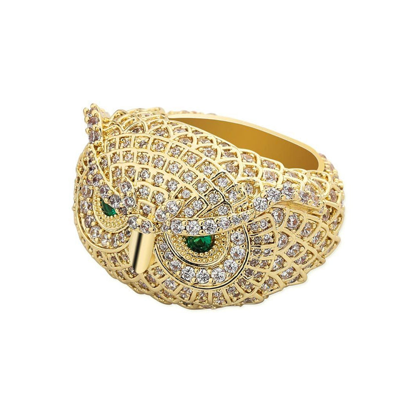 Iced Owl Ring Gold 14K