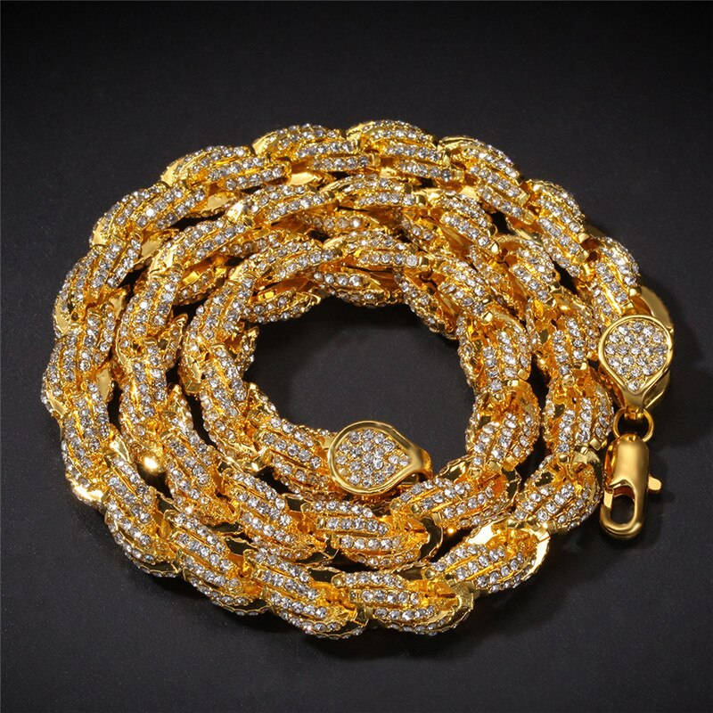 Iced Out Rope Chains Necklace