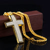 18K Gold Finish S925 Silver Crucifix Pendant & Free Chain