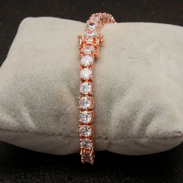 5mm Rose Gold Tennis Bracelet