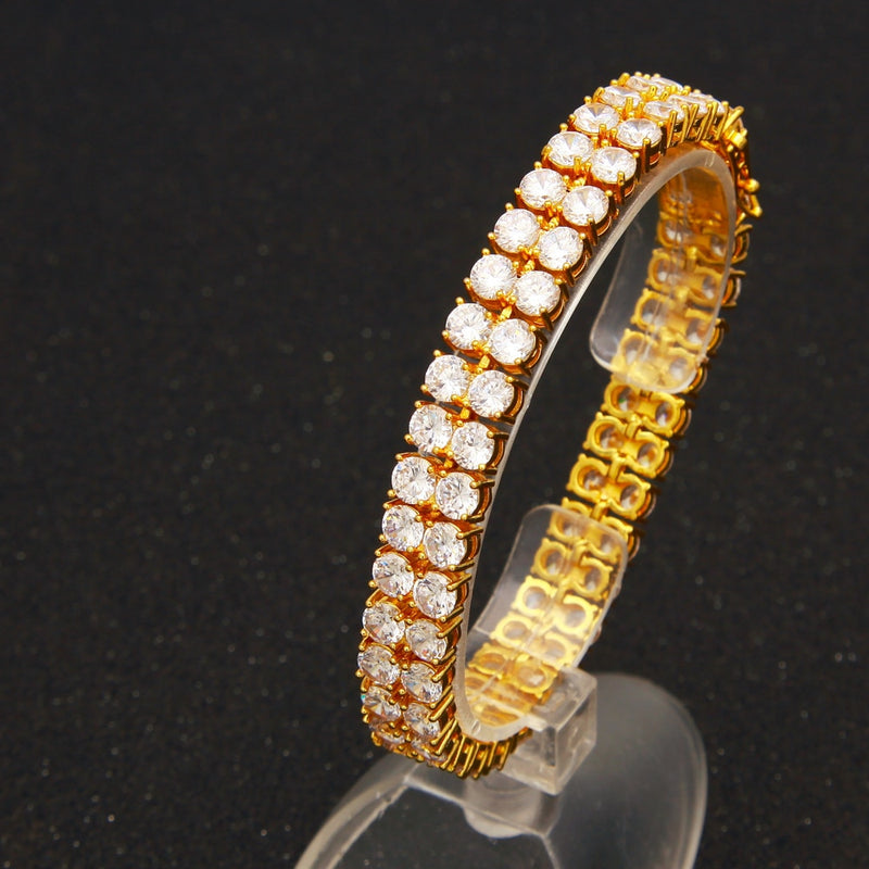 Double Stacked Diamond Tennis Bracelet