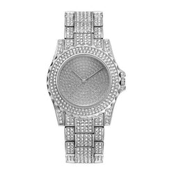 Iced Diamond Watch Frozen 14K Gold