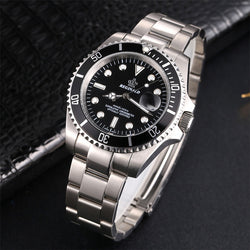 Watch Rotatable Bezel GMT Sapphire Glass Stainless Steel