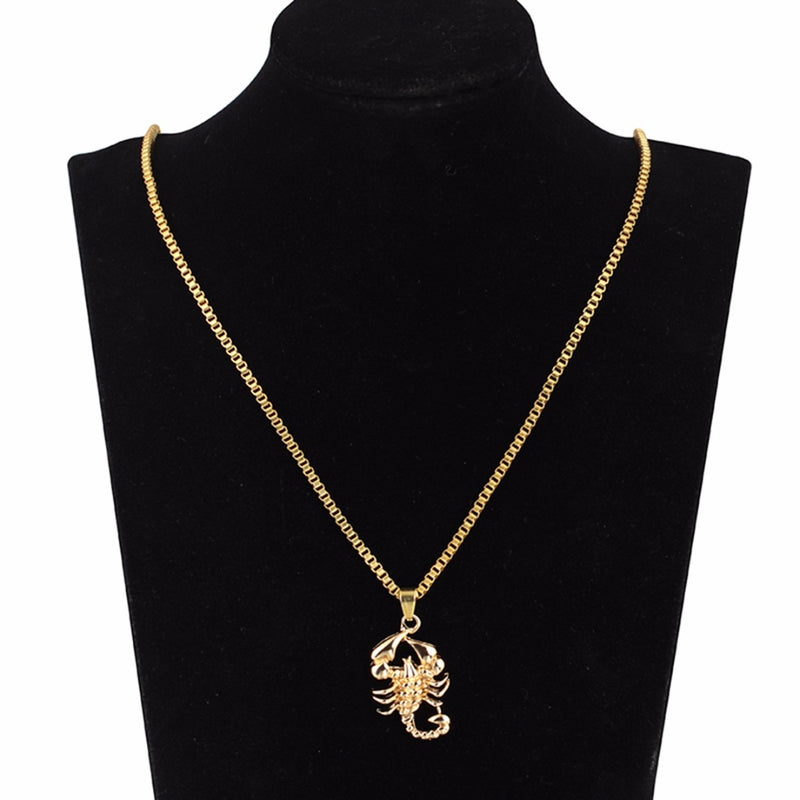 Stainless Steel Scorpio Pendant 18K Gold Plated