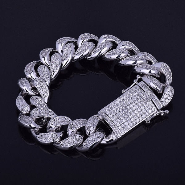 20mm Premium Iced Cuban Bracelet