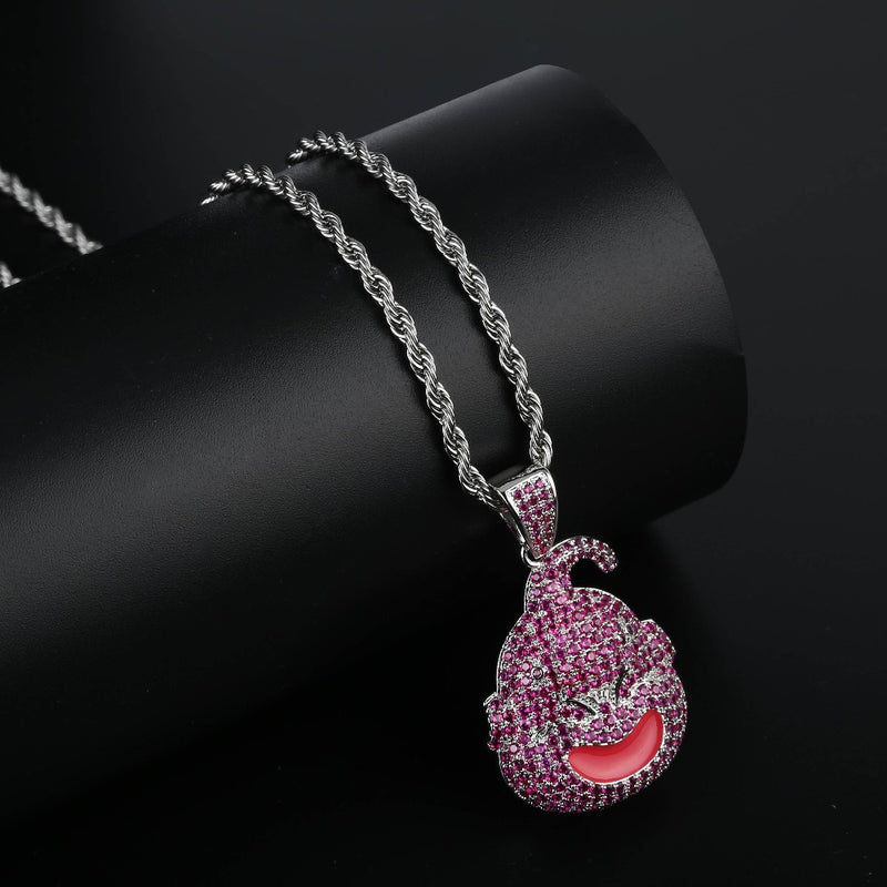 Iced Dragon Ball Kid Buu Pendant