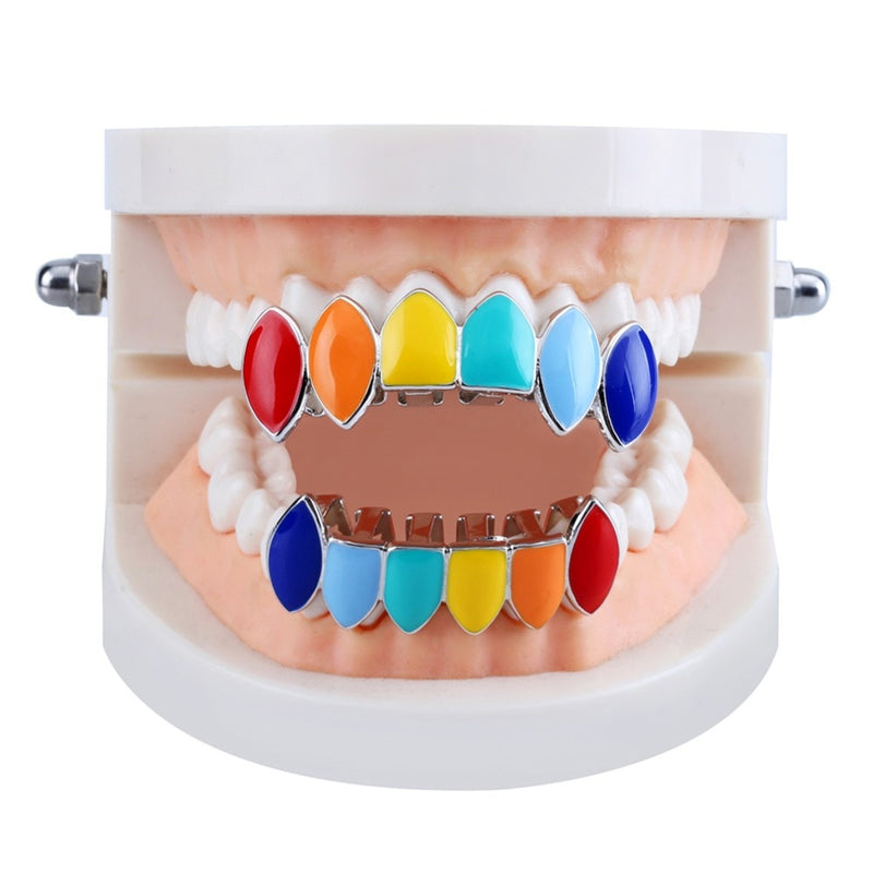 Colored Grillz Rainbow 6 Colors