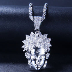 Iced Naruto Pendant 14K Gold Plated